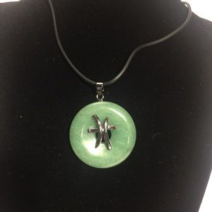 Jewelry - Aventurine Pisces Natural Stone Zodiac Necklace